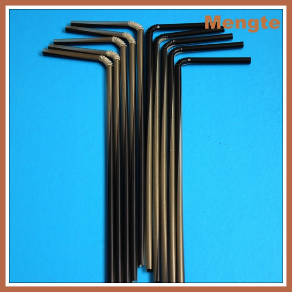 30cm Hot Sale Plastic Flex Super Long 6mm Drinking Straw