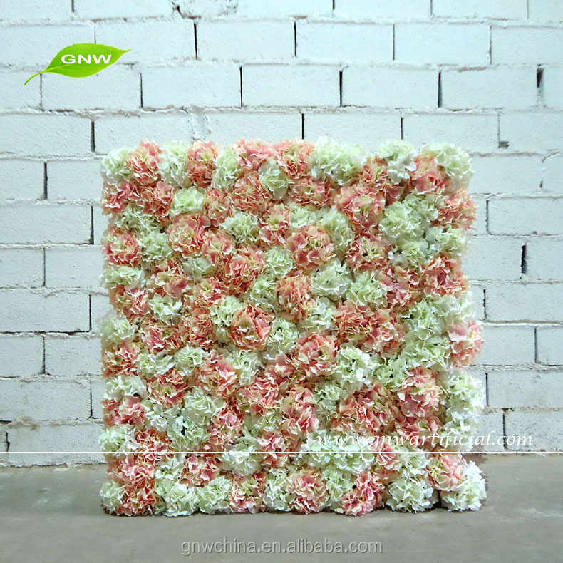GNW FLW1508012 Hot China Products silk flower wall for wedding backdrop stage decor