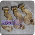 Brazilian hair color dye blond color # 27 no tangle hair weaves for sale!