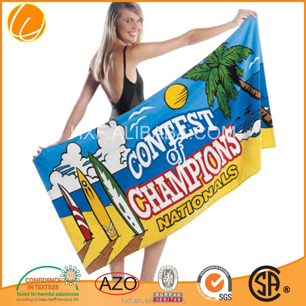 Custom Promotion High Quality Hotsale Printed Cotton Beach Towel Cotton 2015 China Wholesale Beach Towel OEM ODM Manufacture