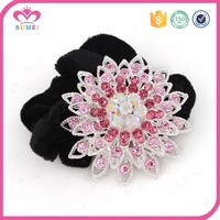 Colorful elastic scrunchies crystal hair band
