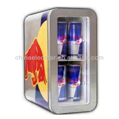 12L mini slim cooler/Redbull refrigerator/Pepsi beverage cooler/small cuntertop display refrigerator showcase,CE/ETL-BR12-3
