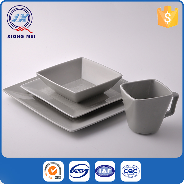 Different type Gray Color 16pc porcelain table service for dinner set