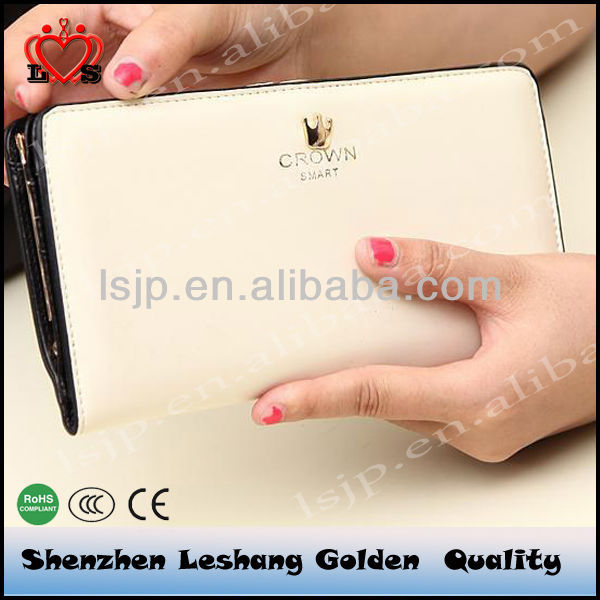 Crown metal clip ladies wallet&Zipper wallet &card bag,magic wallet.