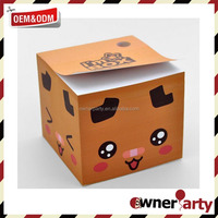 Custom Design Wholesale Paper Memo Cube With Pen Holder