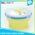 Custom silicone material hot disposable food container
