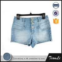 Wholesale colors China factory branded match cargo shorts for women