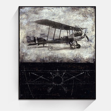 JC Wholesale Classic Small Plane Bedroom Home Decoration Canvas Oil Painting For Living Room VEH-5a
