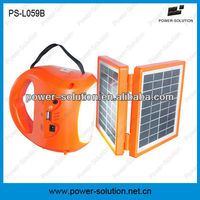 2W LED solar lantern for home lighting with mobile phone charger