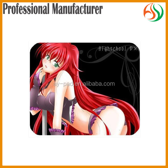 AY Red Hair Girl Open Sexy Girl Full Photo Sexy Japanese Cartoons Nude Mouse Pad, Rias Gremory High School DXD Mouse Pad