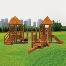 Professional outdoor development kids school wood playground equipment for sale