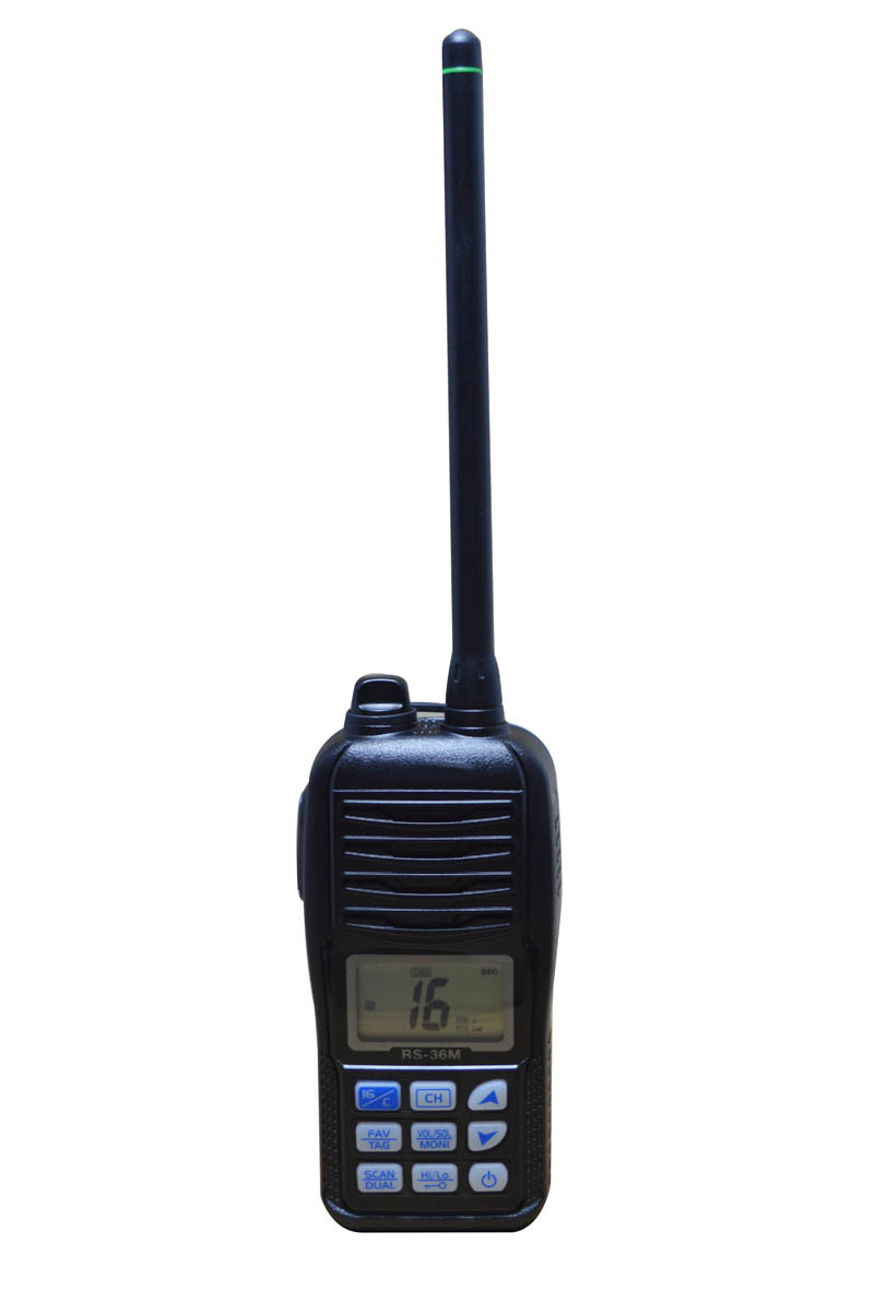 VHF Marine Portable Auto Scan and Aqua quake Draining weather Radio TC-36M
