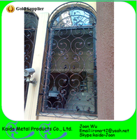 Beautiful Powder Coated Wrought Iron French Window Grills For Sale