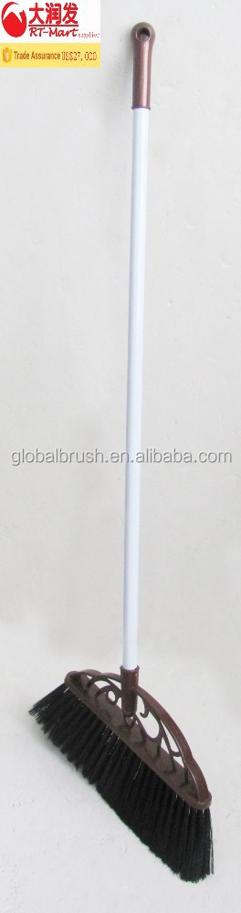 HQ82003 metal handle long bristle butcher broom sponge broom soft broom