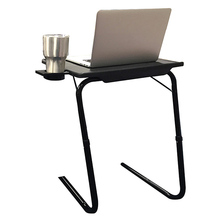 Grand Innovation Portable Mate TV Dinner Laptop Tray Adjustable Folding Table With Cup Holder