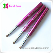 Pink detachable kolinsky free LOGO printing nail art brush gel nail supplies