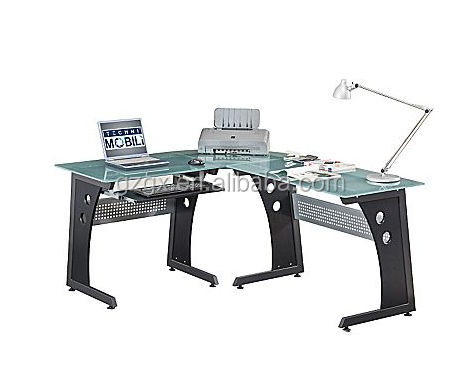 Factory direct sale Computer Desk with Clear Glass furniture