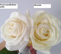 artificial flowers bouquet for wedding real touch single white rose flores artificial