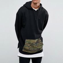 2017 New Design 100% Pre-Shrunk Heavyweight Cotton Blank Custom Hoodies With Camo Pocket