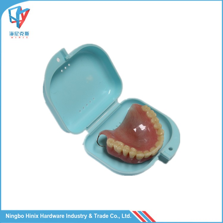 Plastic Orthodontic Denture Retainer Case