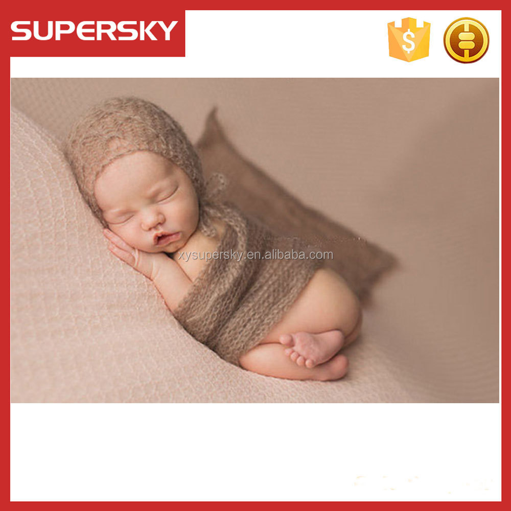 T9-1 Wholesale Baby Photo Props Newborn Rayon Wraps Stretch Knit Wrap Blanket