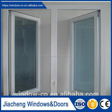 UPVC casement window mullion pvc profile frame window home interior water proof casement window