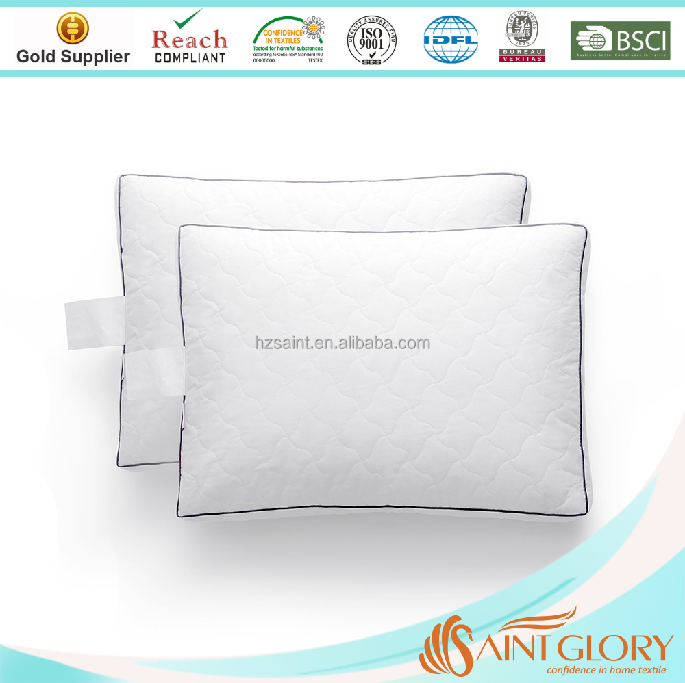 Hotel Good Sleep 3 Layers Feather Down Filling White Goose Feather Pillow Quilted King