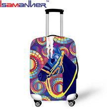 Dust proof trolley bag cover elastic polyester lady travel suitcase cover 28