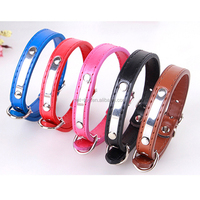 Stain Steel and PU Leather Pet Collars Decorative Pet Dog and Cat HIgh Quality Collar
