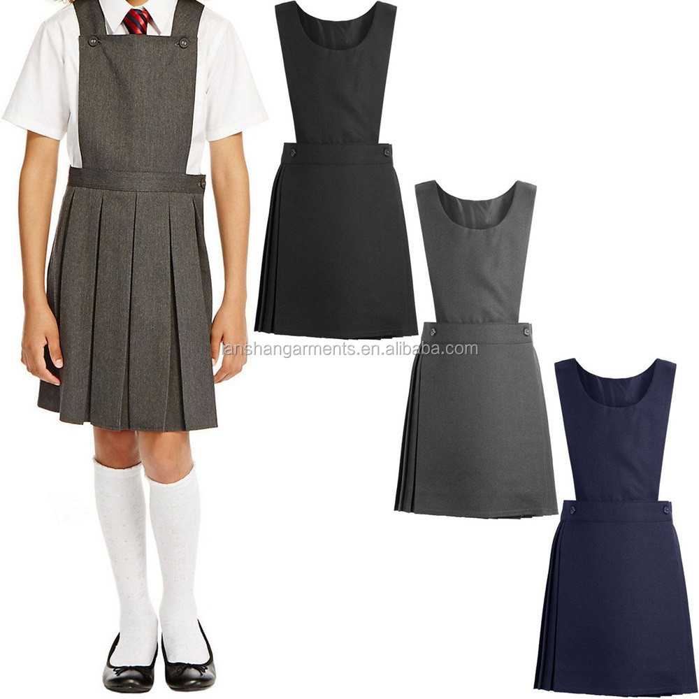 primary school girl pinafore dress uniform