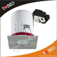 aluminiumn recessed down lighting fire rated