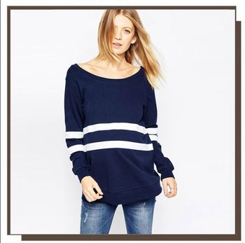 Hot Sale Pregnant Women Tops,Casual Maternity Sweatshirt In Placement Stripe