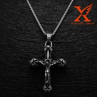 Stainless Steel Vintage Cross Pendant Gothic Jewelry