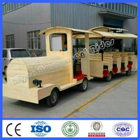 High quality amusement park rides diesel trackless tourist train for sale with different colors