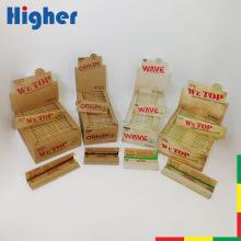 Custom rolling paper 100% natural organic gum unbleached smoking hemp paper