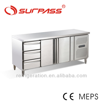 D0.4L2D3F Surpass Stainless Steel Refrigerated Work Bench