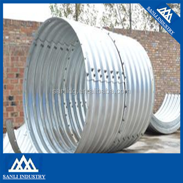 corrugated galvanized metal culvert made in china
