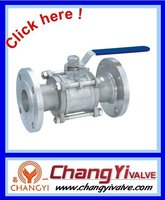 3PC gas pipeline flanged ball valve, standard valve, industrial ball valves(Wenzhou valve)