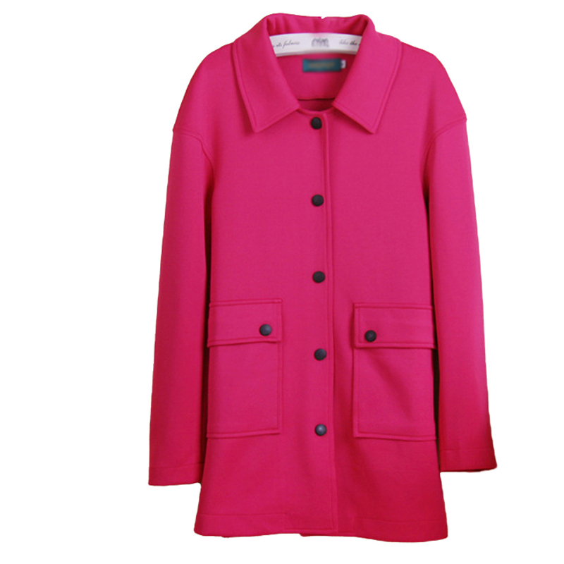 Fashion Trench Coat for Women Lapel Long-sleeved Loose Coats Female Light Blue,Red,Yellow Spring Autumn