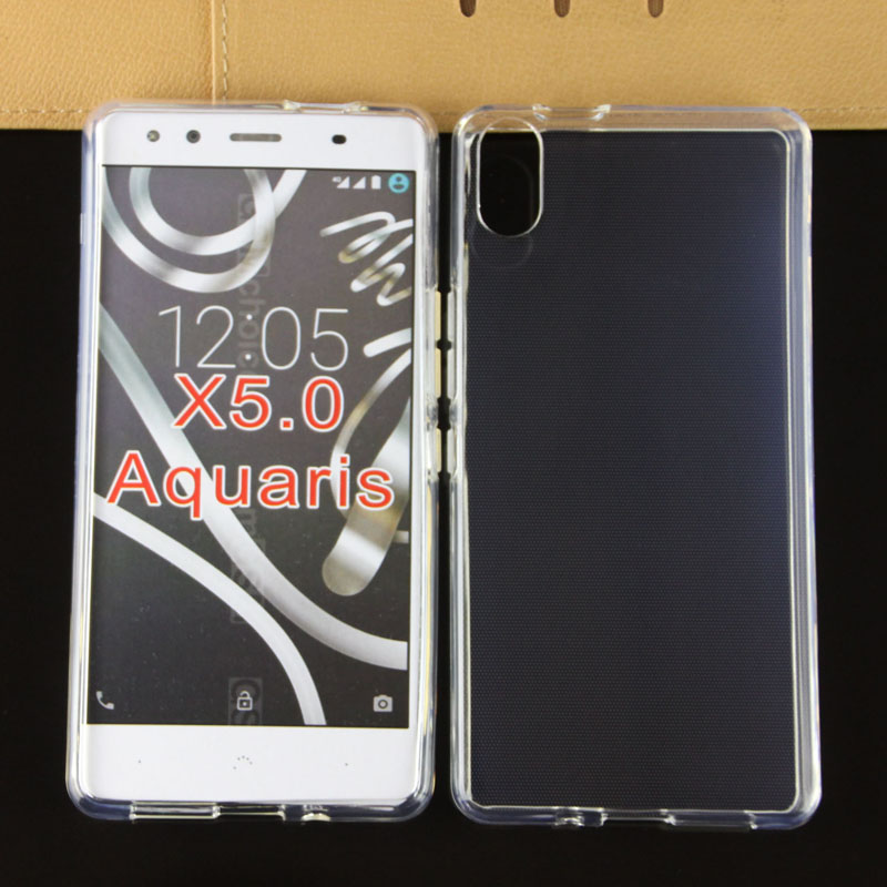 2016 Premium durable Mobile phone clear anti water print tpu rubber cover case for BQ Aquaris X5.0