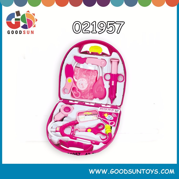 2015 hot design new hand tool box plastic doctor toy set for kids