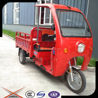 Strong Power China Cargo Tricycle With Cabin, Electric Cargo Tricycle With Range Extender