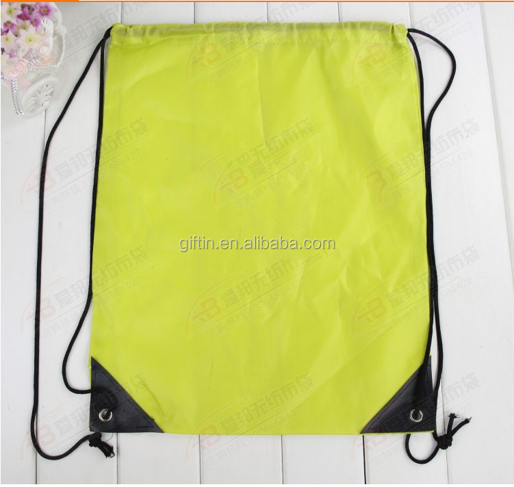 2015 fashion gift promotional polyester drawstring custom woven drawstring bag nylon printed bag