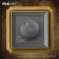 Best Quality Hotel Wallpad Gold Copper Brushed Frame Decorative Rotary Voice Variable Tuning Control Switch