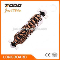 Best selling 40*9.5 inch boat concave dropthough Longboard golf skateboard with high rebound pu wheels