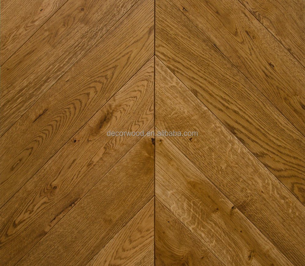 Oak engineered classic chevron parquet wood flooring