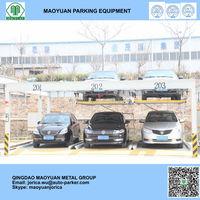 2 levels Lift Sliding Mechanical Car Storage Vertical Double car parking system solution