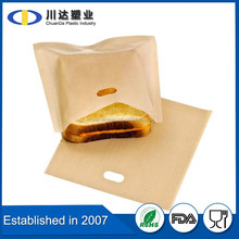 PTFE Material Panini bags Recyclable Feature Reusable Toaster Bags