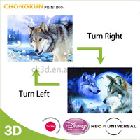 Custom 3D Lenticular Picture Wolf Horse, Tiger, Bear Designs