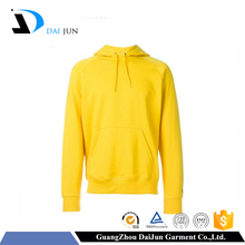 Guangzhou Daijun oem turtleneck plain long sleeve yellow hoodies manufacturer